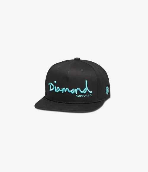 Diamond OG Script Unstructured Snapback