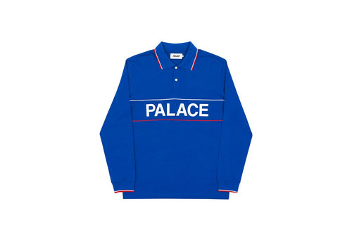 Palace Handle Longsleeve Polo Blue