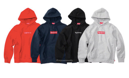 Supreme x Swarovsky 25th Anniversary Box Logo Hoodies