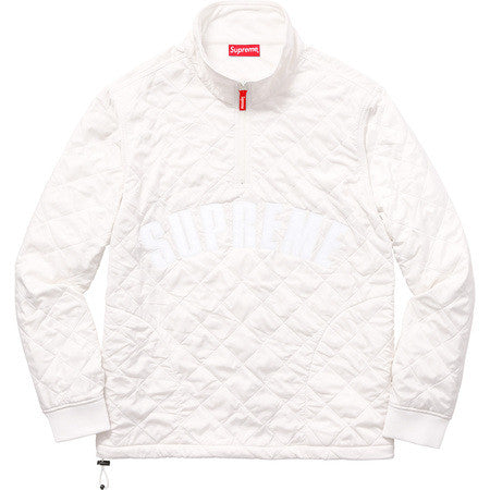 Supreme Arc Logo Quilted Half Zip Pullover