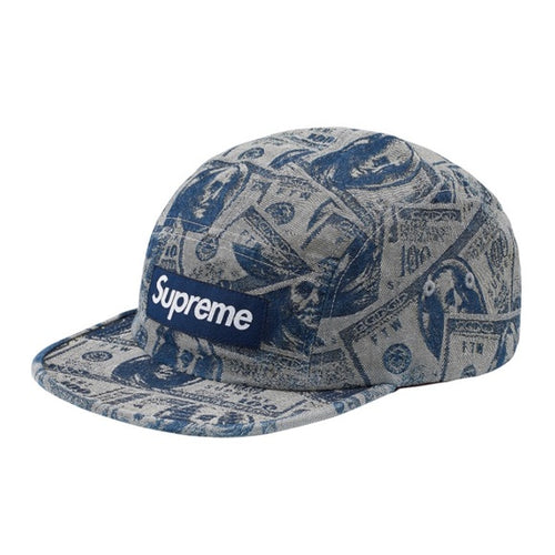 Supreme 100 Dollar Bill Camp Cap