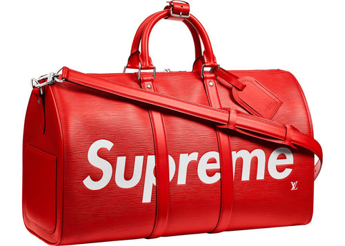 Louis Vuitton x Supreme Keepall Bandouliere Epi 45