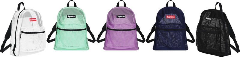 Supreme Mesh Back Pack 2 Colors