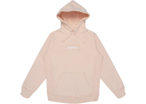 Supreme Box Logo Peach Hooded Sweatshirt