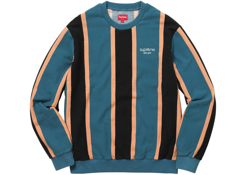 Supreme Vertical Striped Pique Crewneck