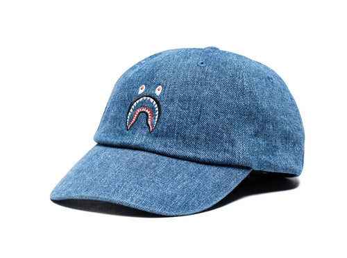 Bape Shark Denim Cap - Light Indigo