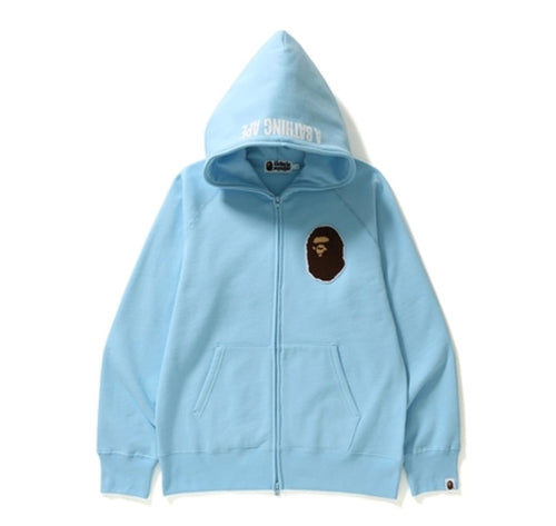 A Bathing Ape Full Zip Light Blue