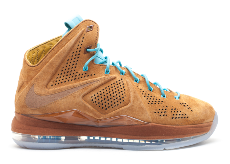 Lebron 10 EXT QS Brown Suede