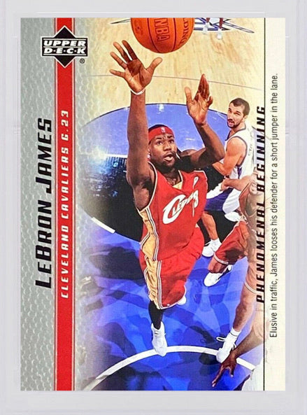 2003 LeBron James Upper Deck Phenomenal Beginning #6