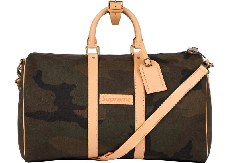 Louis Vuitton x Supreme Keepall Bandouliere  45 Camo