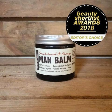 BOTANIC MAN BALM MOISTURISER 60ML - SANDALWOOD & ORANGE