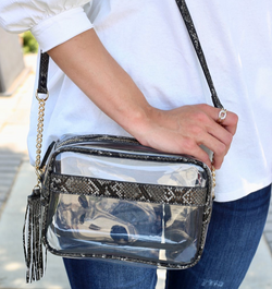 Crossbody Clear Snake Bag