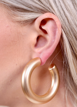 Tube Hoop Gold Earrings