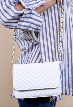 Quilted White Bag