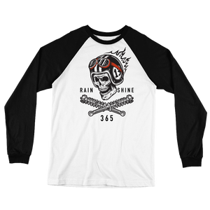 Bikers 365 Flaming Skull Long Sleeve Shirt