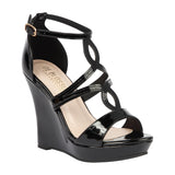 ALLE-11 Patent High Heeled Wedge