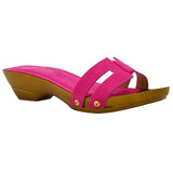 AMAY-41 Slip on with Faux Wood Heel