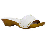 AMAY-42 Slip on with Faux Wood Heel