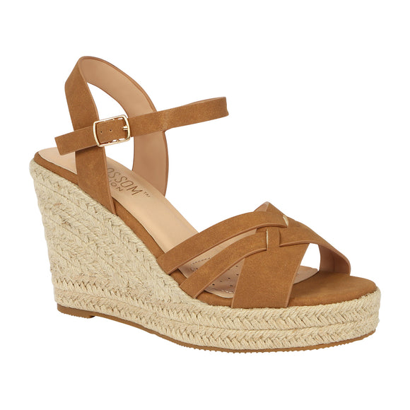 ANDY-11 Women's Woven Wedge PU Sandal