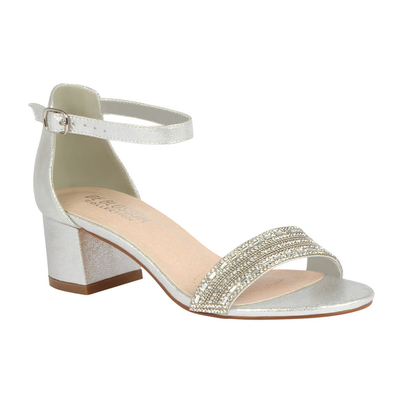 ANNIE-20 Low Block Evening Sandal