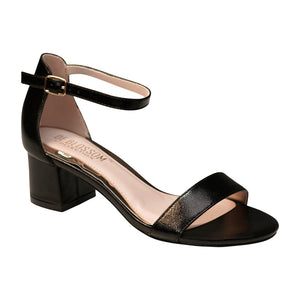 ANNIE-28 Low Block Evening Sandal