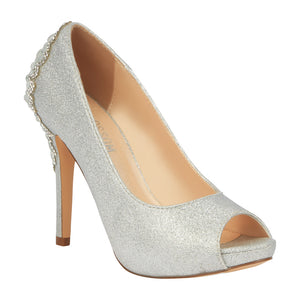 BARBARA-66X Women's Wholesale Shimmer High Heel with Rhinestone Back