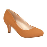 BERTHA-18 Shimmer Low Heel with Round Toe