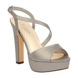 CECELIA-11 Metallic PU Chunky Platform Evening Shoe