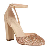 DAWN-1 Glitter Pump with Block Heel