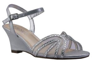 FIELD-18 Low Wedge with Sheer Rhinestone Details