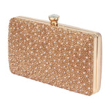 HB-REESE-5 Pearl and Rhinestone Clutch Evening Bag