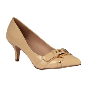 HURLEY-14 Patent Kitten Heel with Buckle