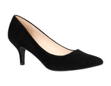 HURLEY-32 Kitten Heel Suede Pointed Toe