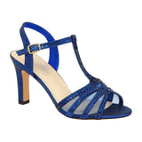 JANET-13 Chunky Mid Block Heel Dress Sandal