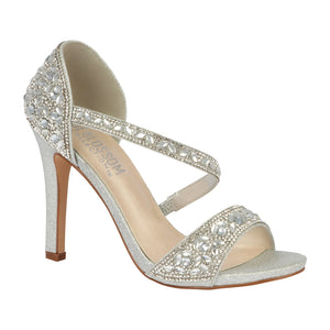 JENNY-9 Wholesale Rhinestone Strappy Evening Shoe