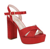KEITH-3 Chunky High Heeled Platform Sandal