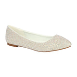 LUNA-29 Rhinestone Covered Ballet Flat