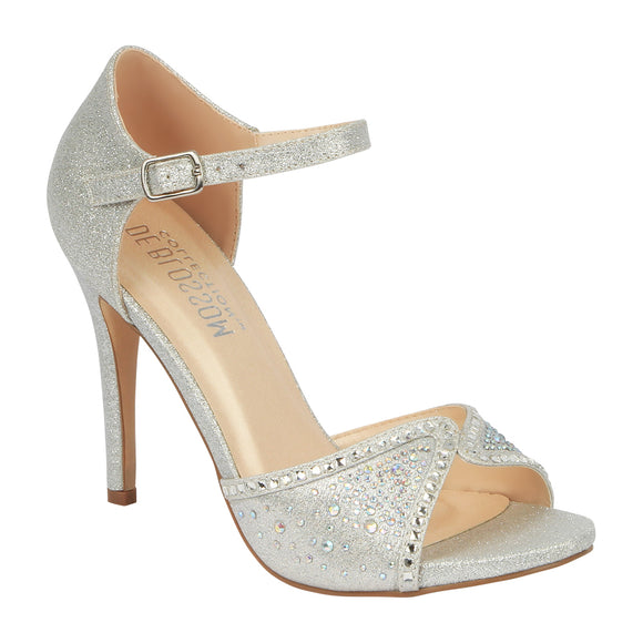 MACY-85 Women's Open Toe Dress Sandal with Rhinestones