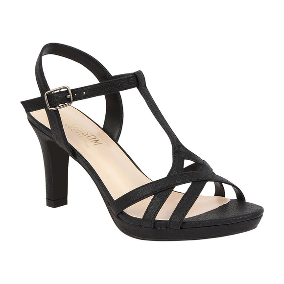 NICOLE-12 Strappy Mid Heeled Sandal