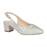 OLIVIA-30 Women's Low Block Heel with Rhinestones