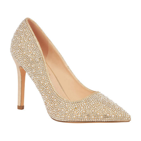 RENZO-73 Pointed Toe Pearl High Heel