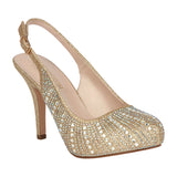 ROBIN-260 Wholesale Women's Closed Toe Slingback Heel with Rhinestones