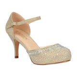 ROMA-18 Low Heel with Rhinestones