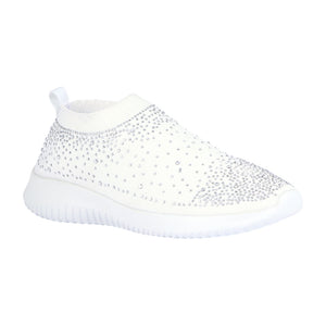 SERENA-10 Rhinestone Slip-On Fashion Sneaker