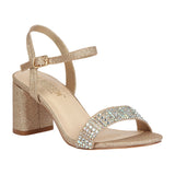 SOFIA-53 Women's Block Heel Sandal with Rhinestones
