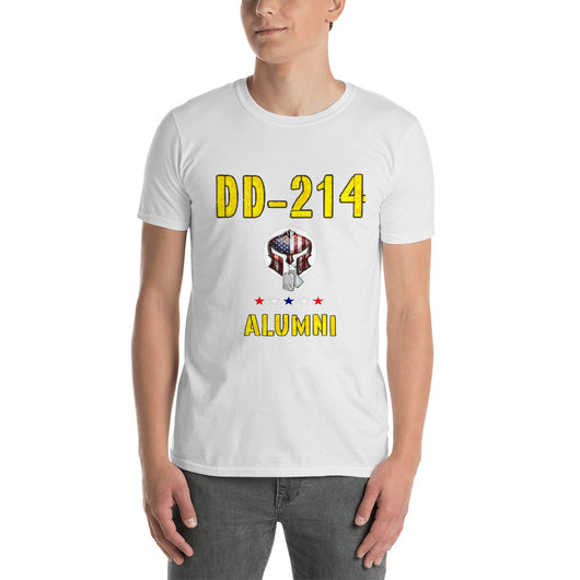 Softstyle T-Shirt  DD-214 ALUMNI (Front side print)