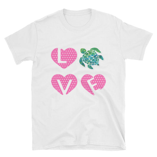 Softstyle Short-Sleeve  T-Shirt LOVE Sea Turtle