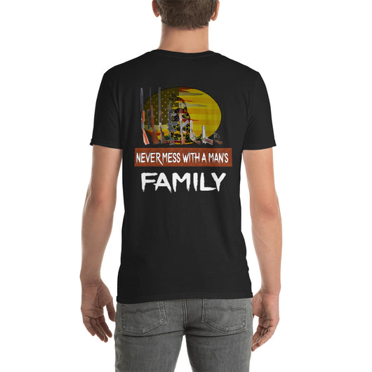 Softstyle T-Shirt  Never Mess with a Man's FAMILY