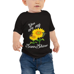 Baby Jersey Short Sleeve Tee  You are my SunShine