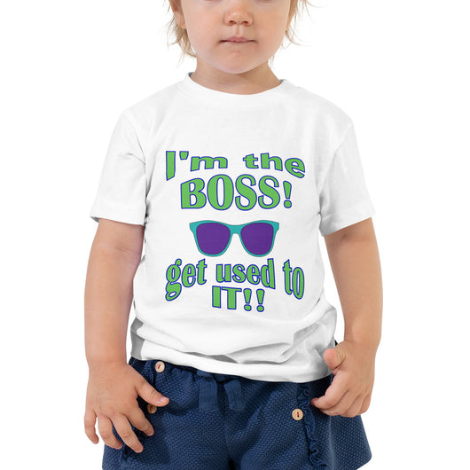 Toddler Short Sleeve Tee  I'm the BOSS